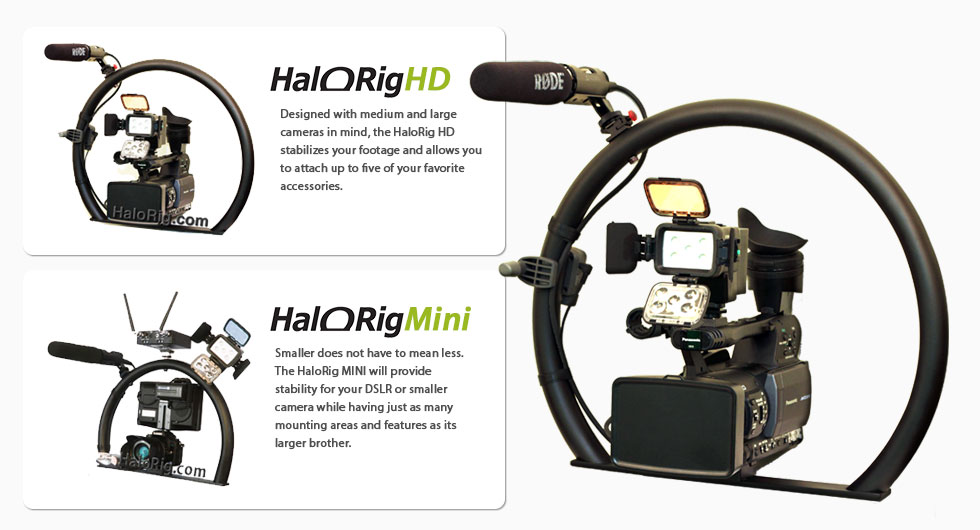 The HaloRig HD Video Camera Stabilizer is perfect for Medium & Large Cameras